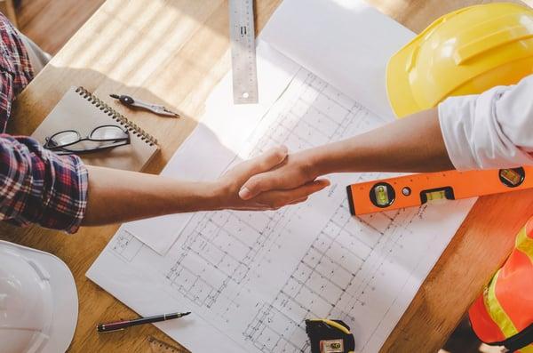 Vertragsabschluss über die Baustelleneinrichtung