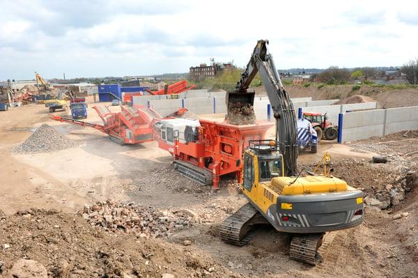 Betonrecycling auf der Baustelle