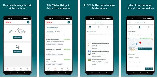 Übersicht der klarx App