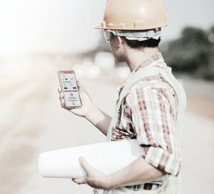 klarxMANAGER auf der Baustelle im Einsatz