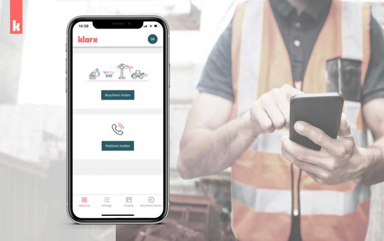 klarx App auf dem Smartphone