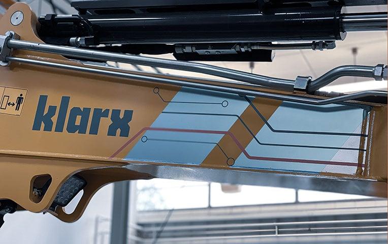 Das neue Labeling auf der klarx-Maschine
