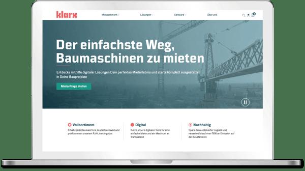 Die neue Webseite von klarx