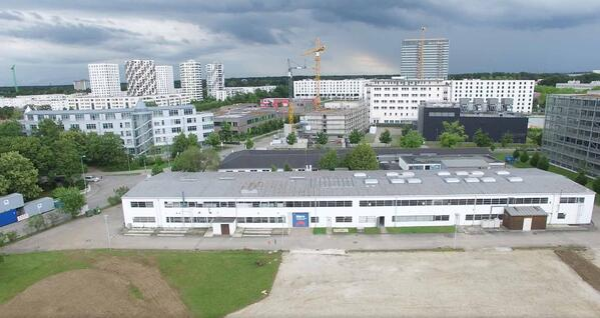 Das Logistikzentrum in München Sendling von oben