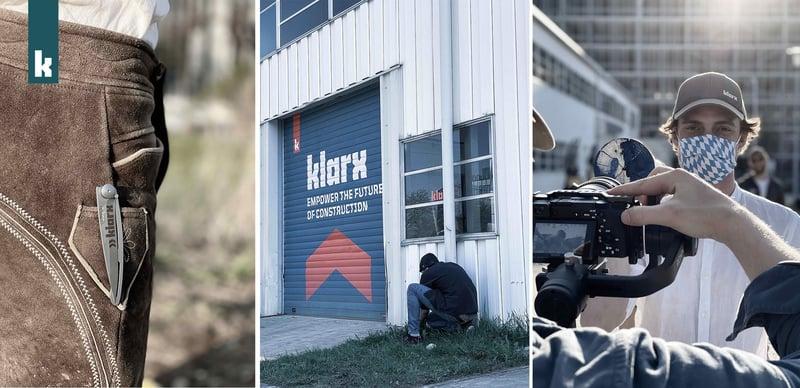 Behind the Scenes Material zum Videodreh im Logistikzentrum
